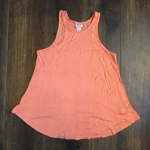 Mossimo orange flowy tank top